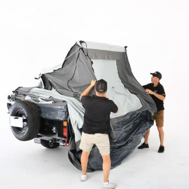 New design upgraded foldout frame enables quicker setup of tent