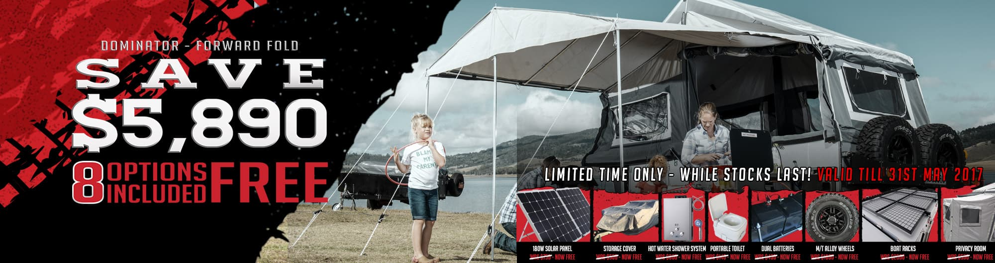 Go See Australia with a Black Series Camper Trailer