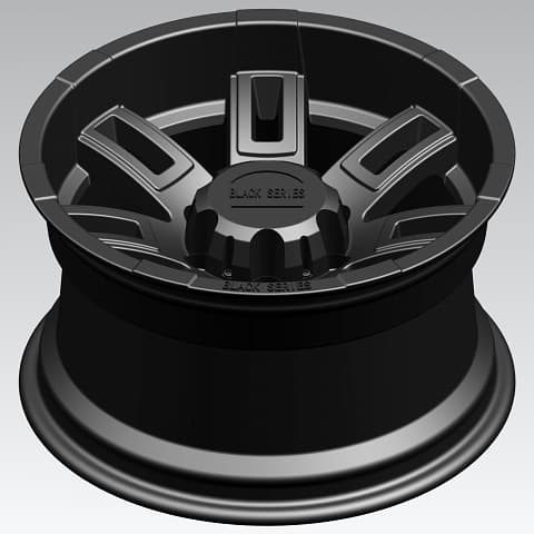 "16"" Alloy Black Series Wheels with Mud-Terrain Tyres"